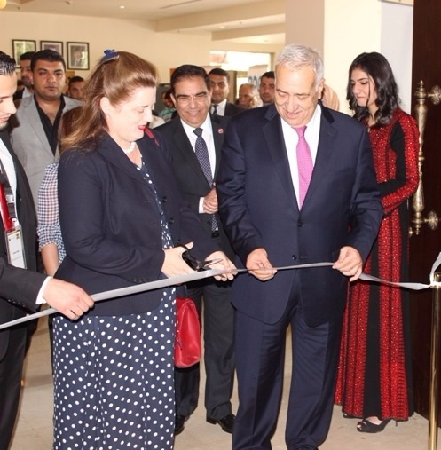 Opening ceremony hosted by Dr Yacoub Nasereddin and ambassador Heidi Venamore