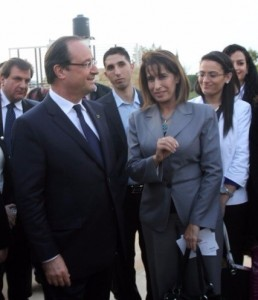 Amal Daraghmeh Masri with President François Hollande in 2014