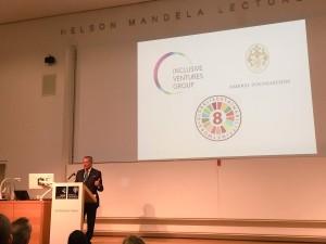 Social Impact Careers, Mr Mohamed Amersi presentinig